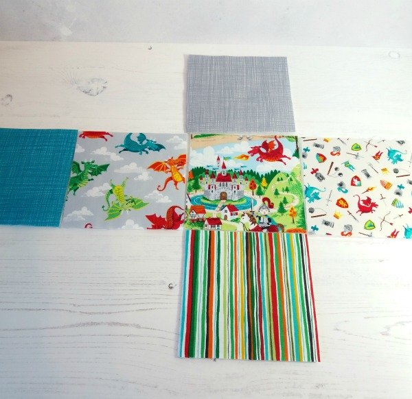 Layout for baby blocks