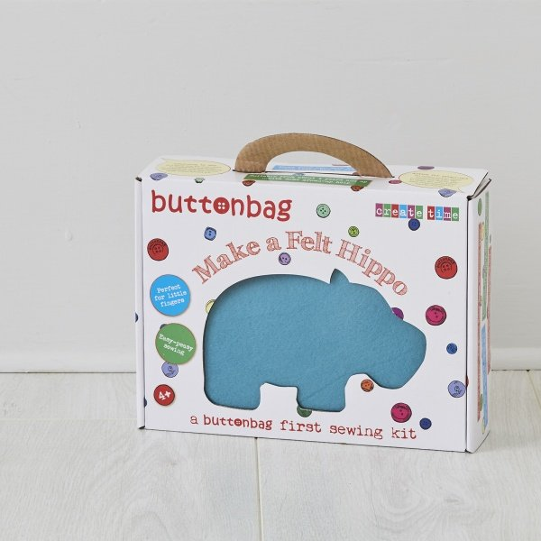 Button bag craft kit for kids
