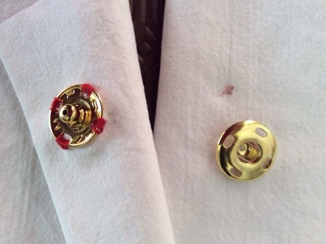 How to mark placement for sewing buttons