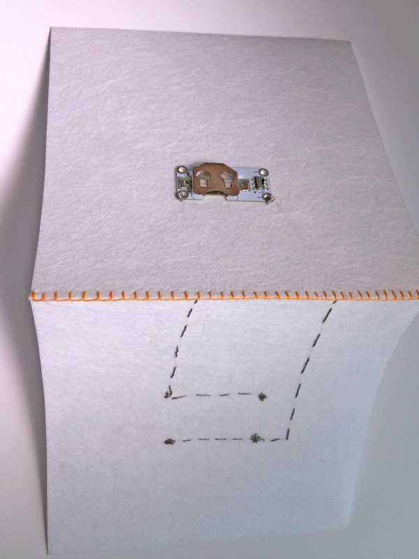 Sewing a wire circuit
