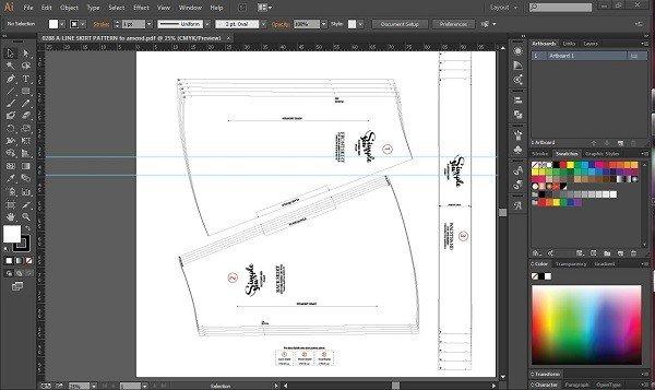 Using illustrator to draft sewing patterns