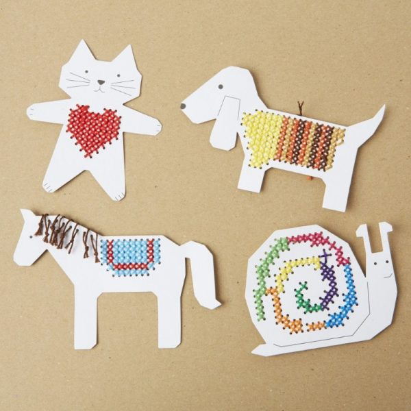 Animal embroidery boards