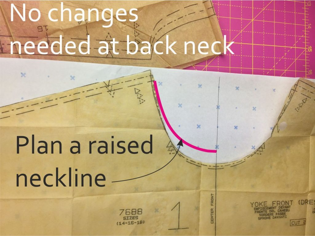 How to raise the neckline of a top