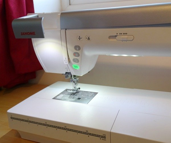 Sewing machine with good lighting