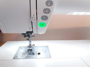 Using a sewing machine without a foot pedal