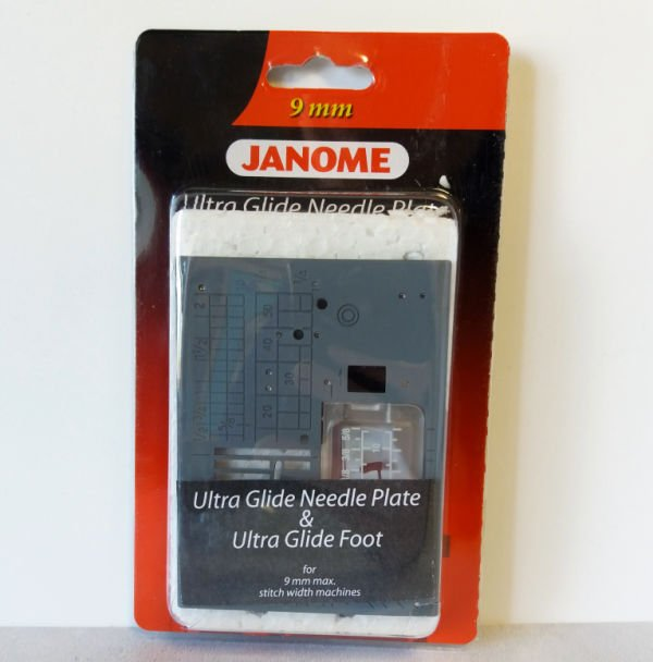 Ultra glide needle plate for sewing sticky fabrics