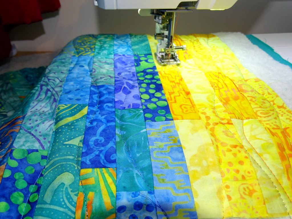 Machine quilting with a Janome sewing machine