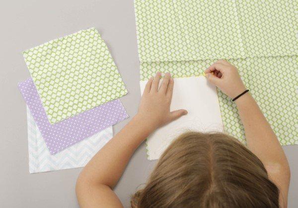 Sew a textile book