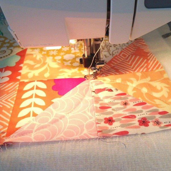 Quilting a mini quilt