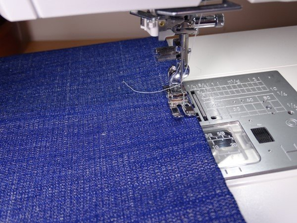 Sewing with the Janome professional foot