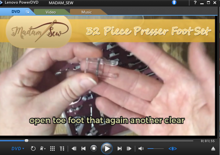 Madam Sew informative video on presser feet