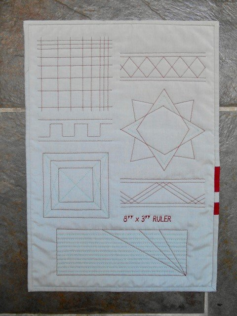 How to do free motion quilting with rulers