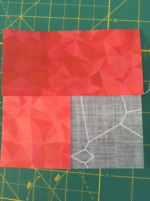Sew quilt blocks from a jelly roll