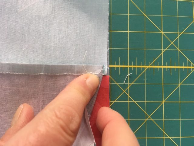Nesting seams for a quilt block