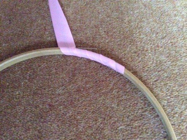Bind an embroidery hoop