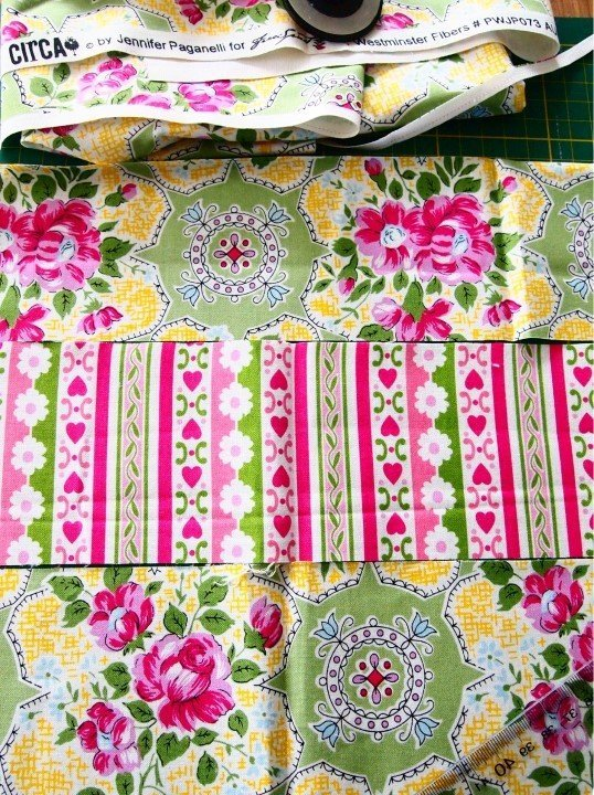 Stripped patchwork for a book cover