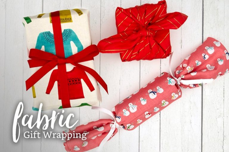 Fabrics for wrapping gifts