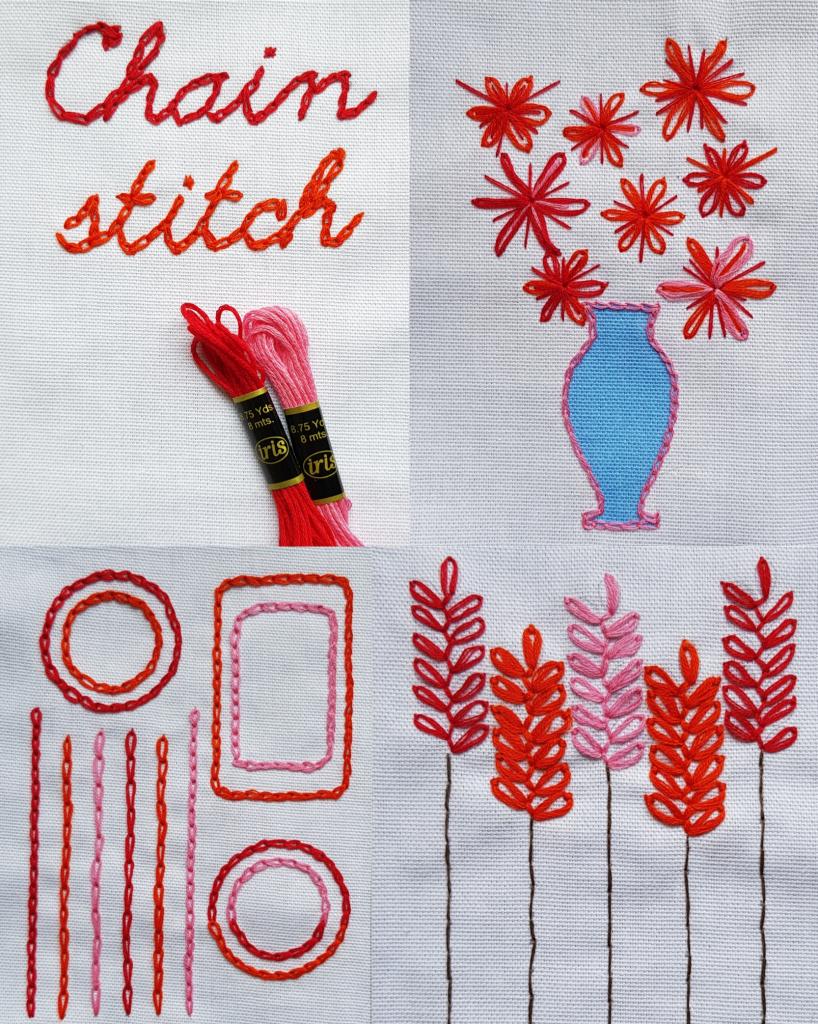 chain stitch embroidery kit