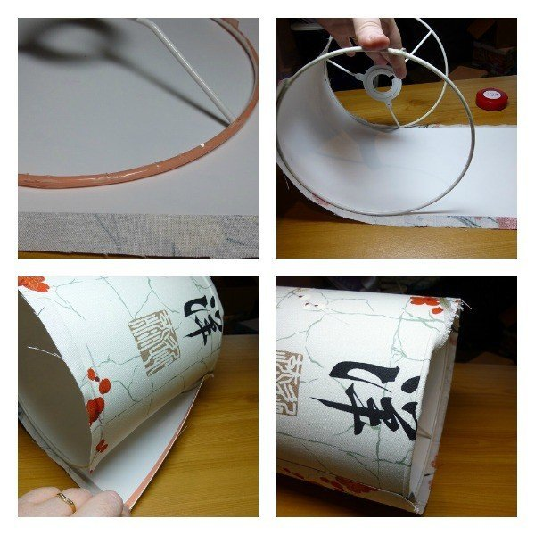 Step by step making a fabric lampshade