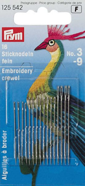 When to sew with crewel needles