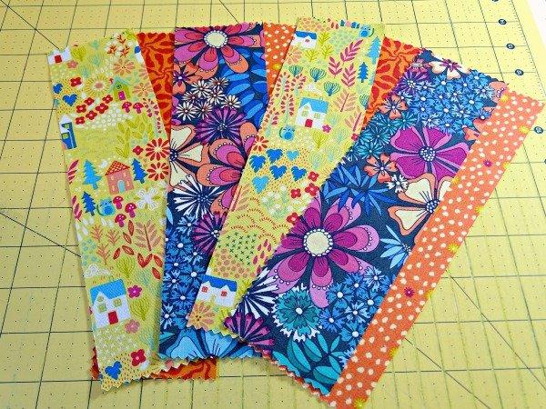 Scrap sewn bookmarks