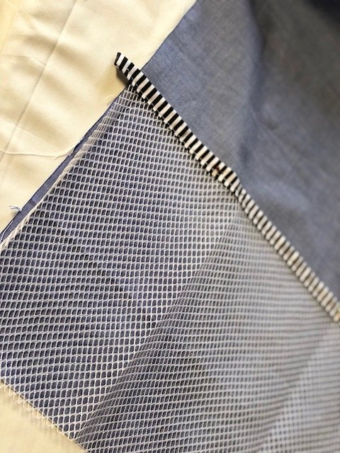 Sewing with mesh