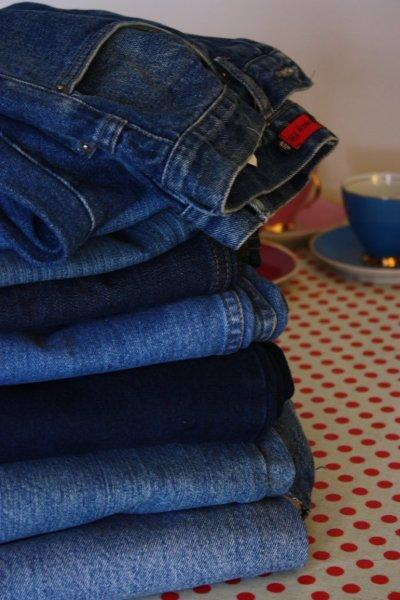 Sewing project using old jeans