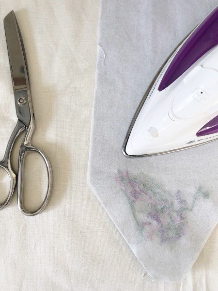 Pressing an embroidery