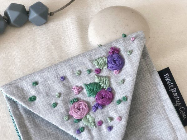 How to sew a purse with embroidered flowers