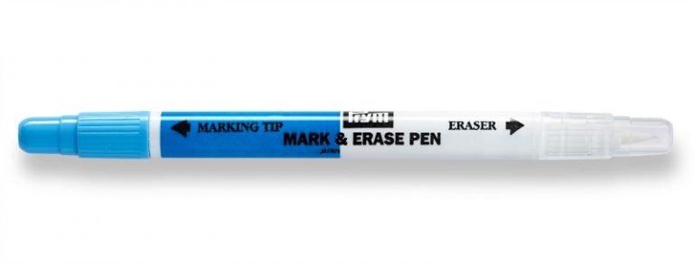 Erasable pen for fabric