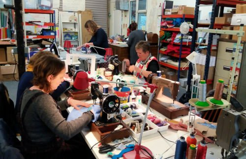 Free motion embroidery and applique workshops in Cornwall