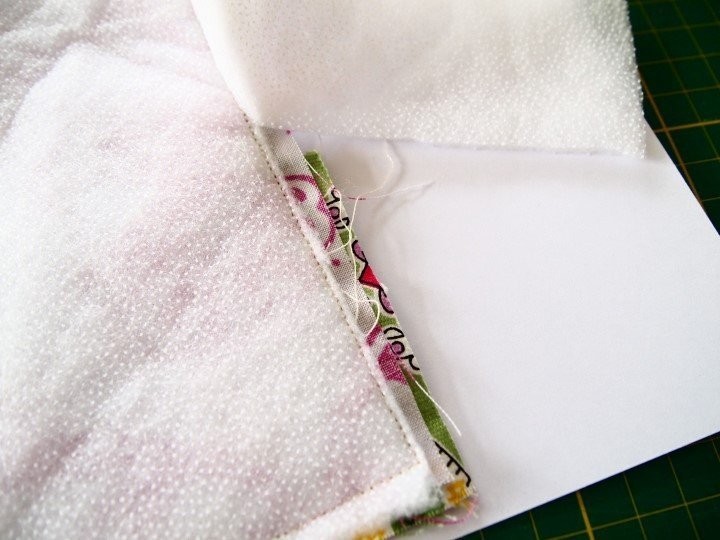Quilted book cover project
