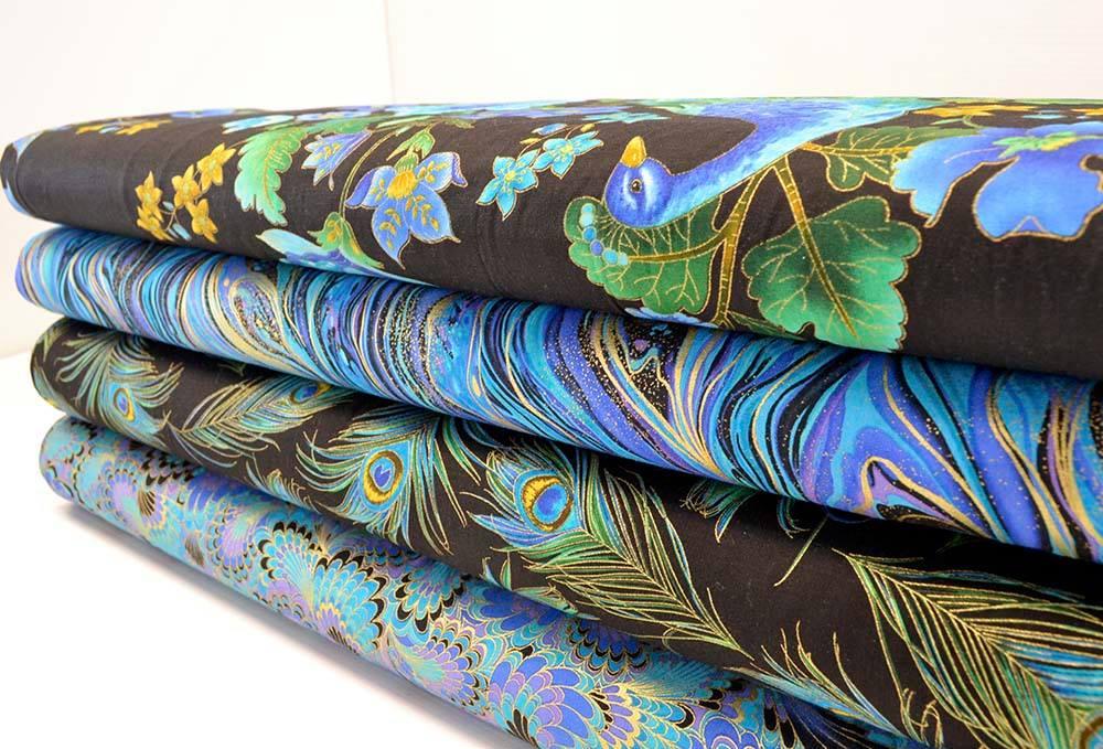 Metallic print fabrics