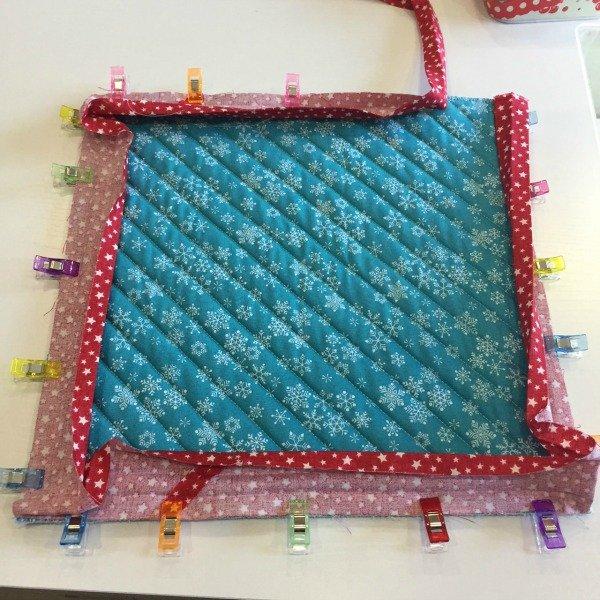 Machine binding a quilt