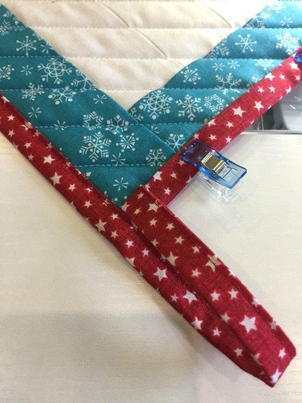 Machine sewn binding