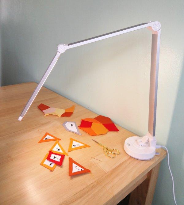 Folding LED craft light