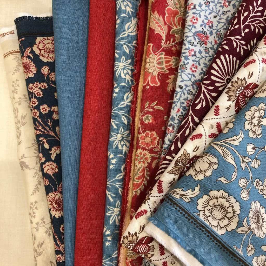Traditional quilting fabrics from Moda