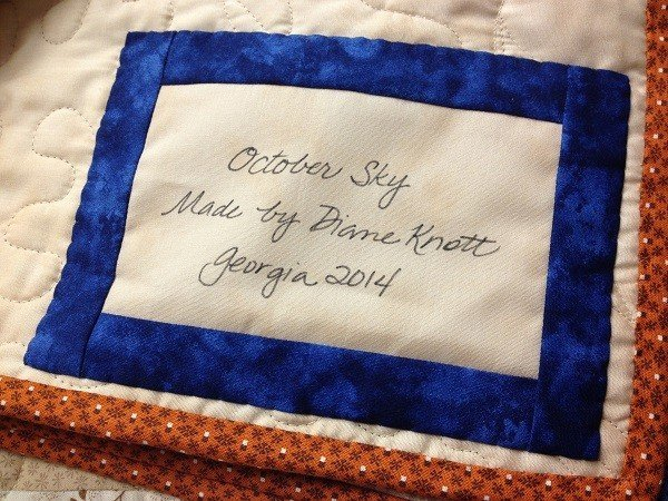 Hand write your own fabric labels