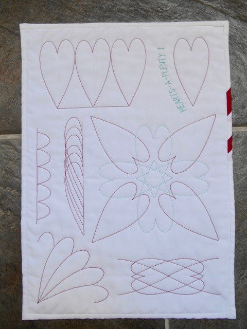 Quilting hearts with a ruler