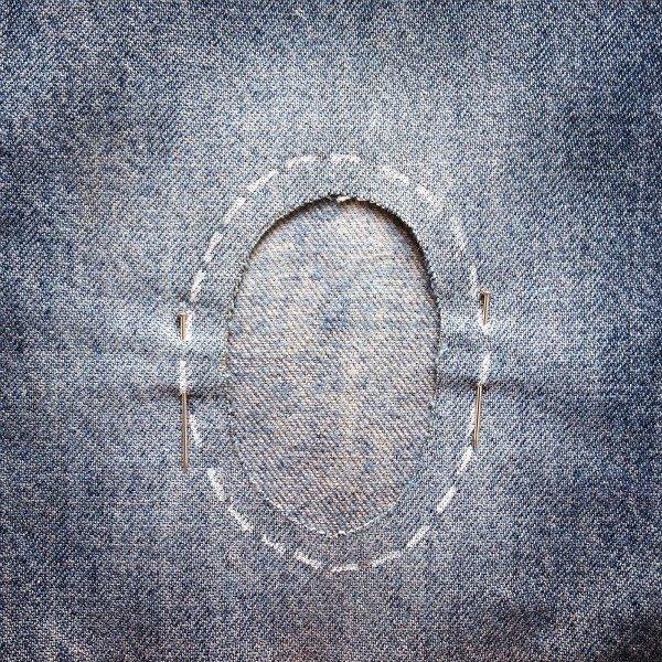 Learn skills to repair jeans