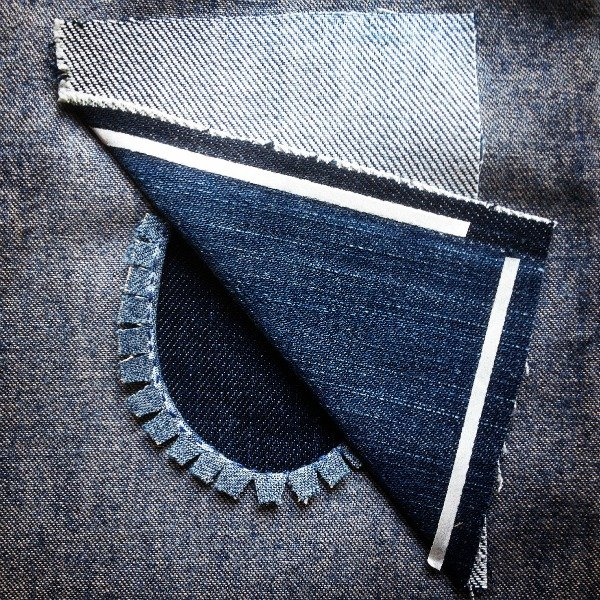 Make a patch to repair jeans