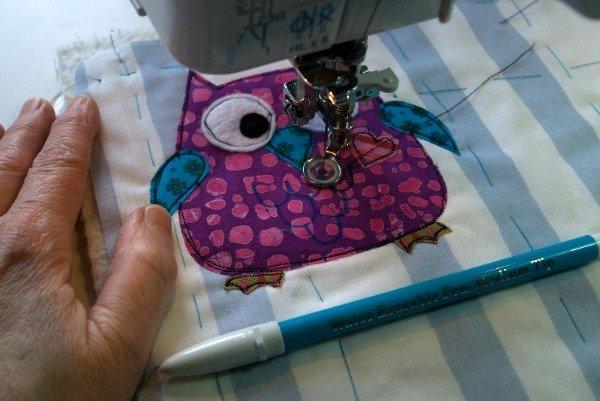 Embellish with free motion stitching