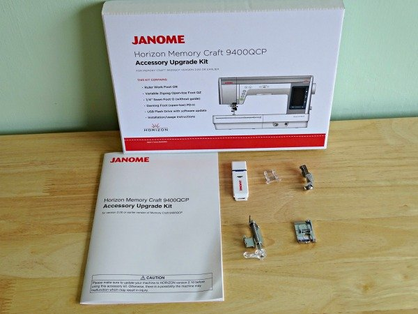 What is included in the Janome upgrade kit for the Mc9400QCP