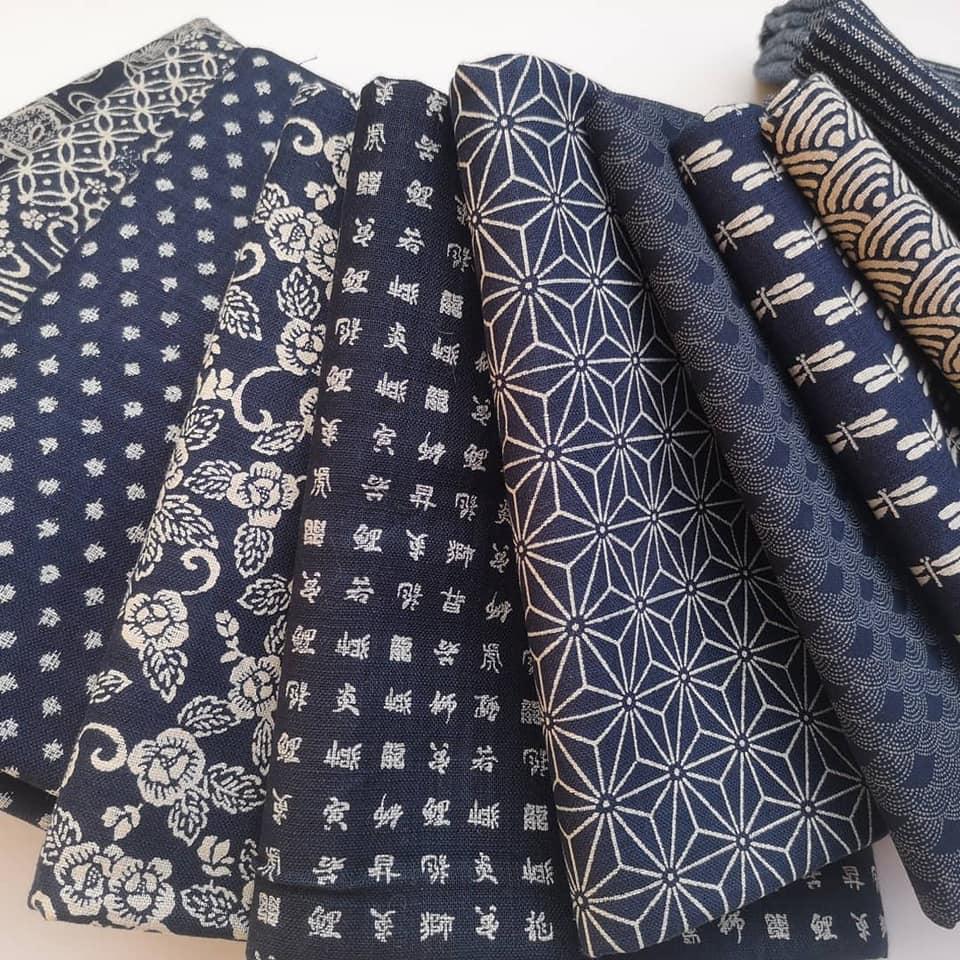 Indigo fabrics from Japan