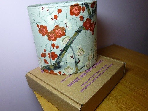 Buy a kit to make a fabric covered lampshade