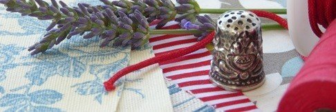 Supplies needed to sew a lavender bag
