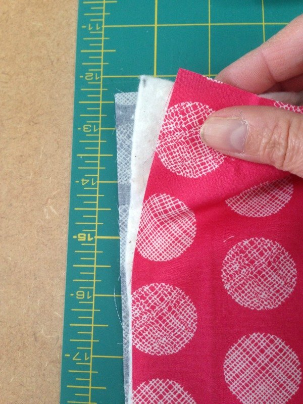 Layering fabrics and wadding