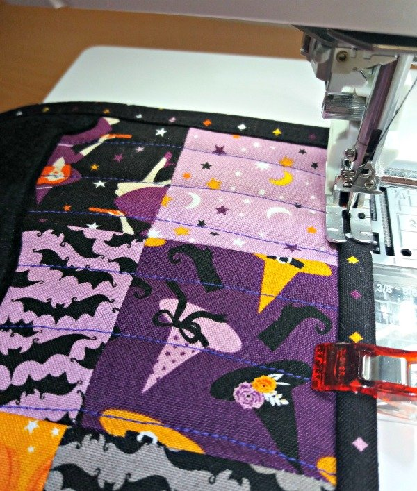 Machine sewn quilting binding