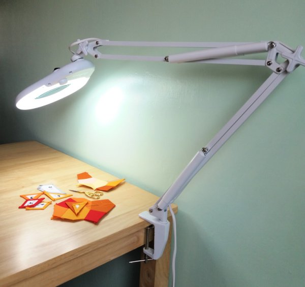 Craft lamp with table clamp