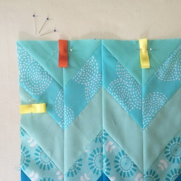 Taggie blanket sewing project